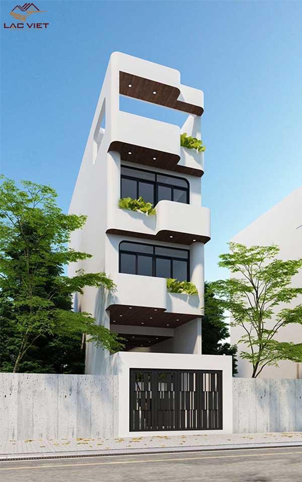 Mẫu nhà 4 tầng đơn giản
