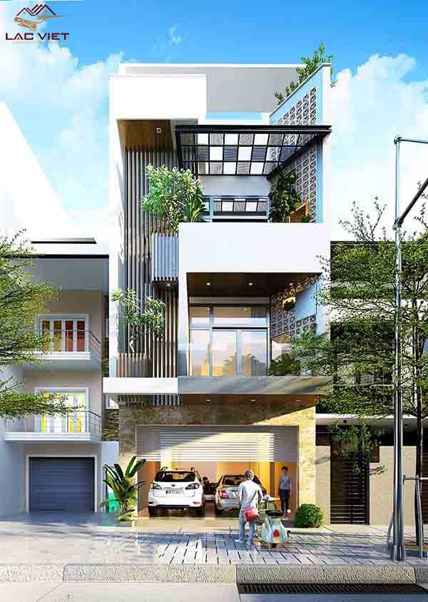 Nhà đẹp 3 tầng mặt tiền 6m hiện đại