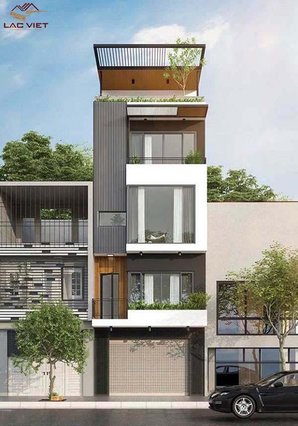 Nhà phố hiện đại 4 tầng 1 tum