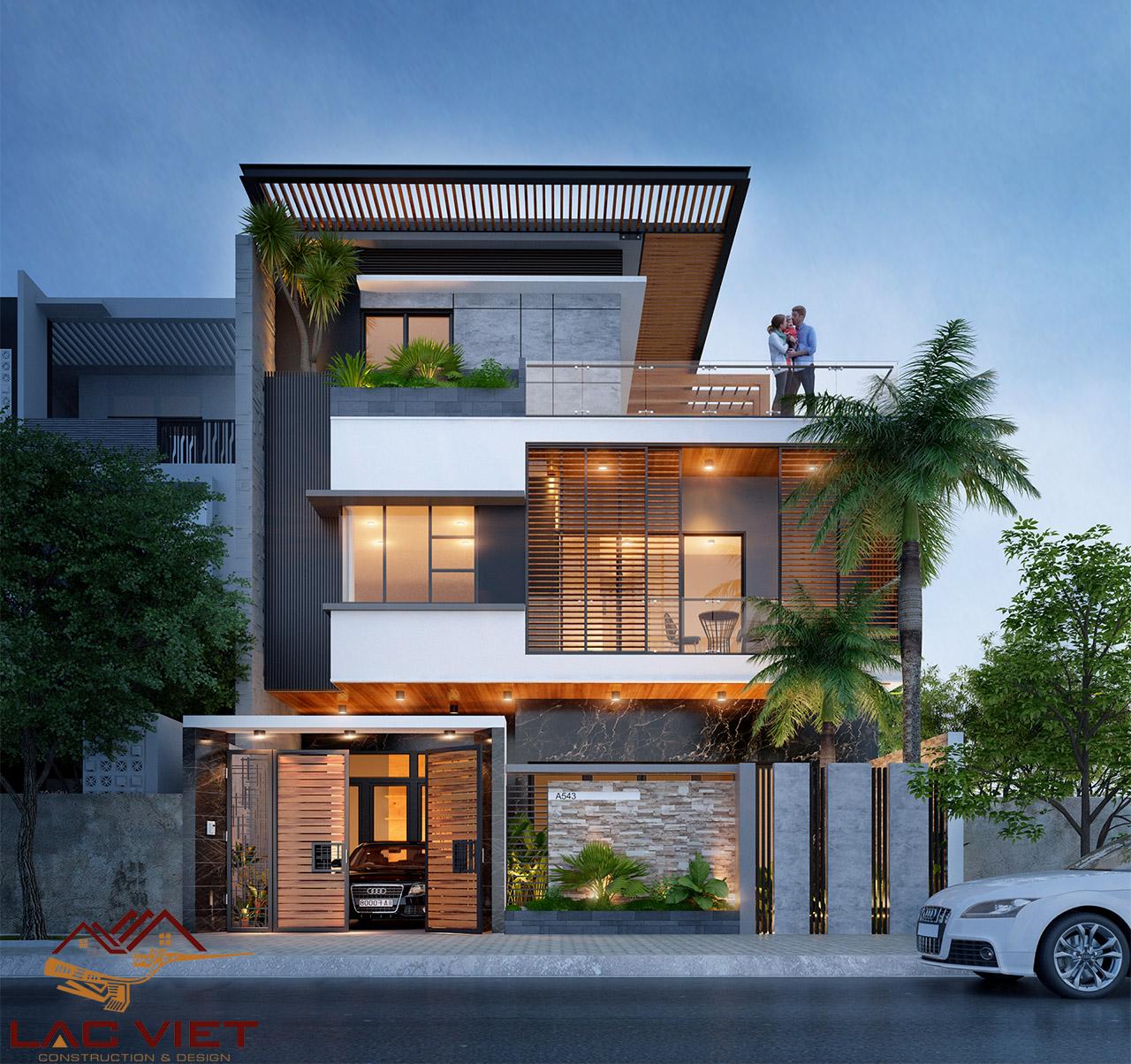 Ngôi nhà theo phong cách hiện đại