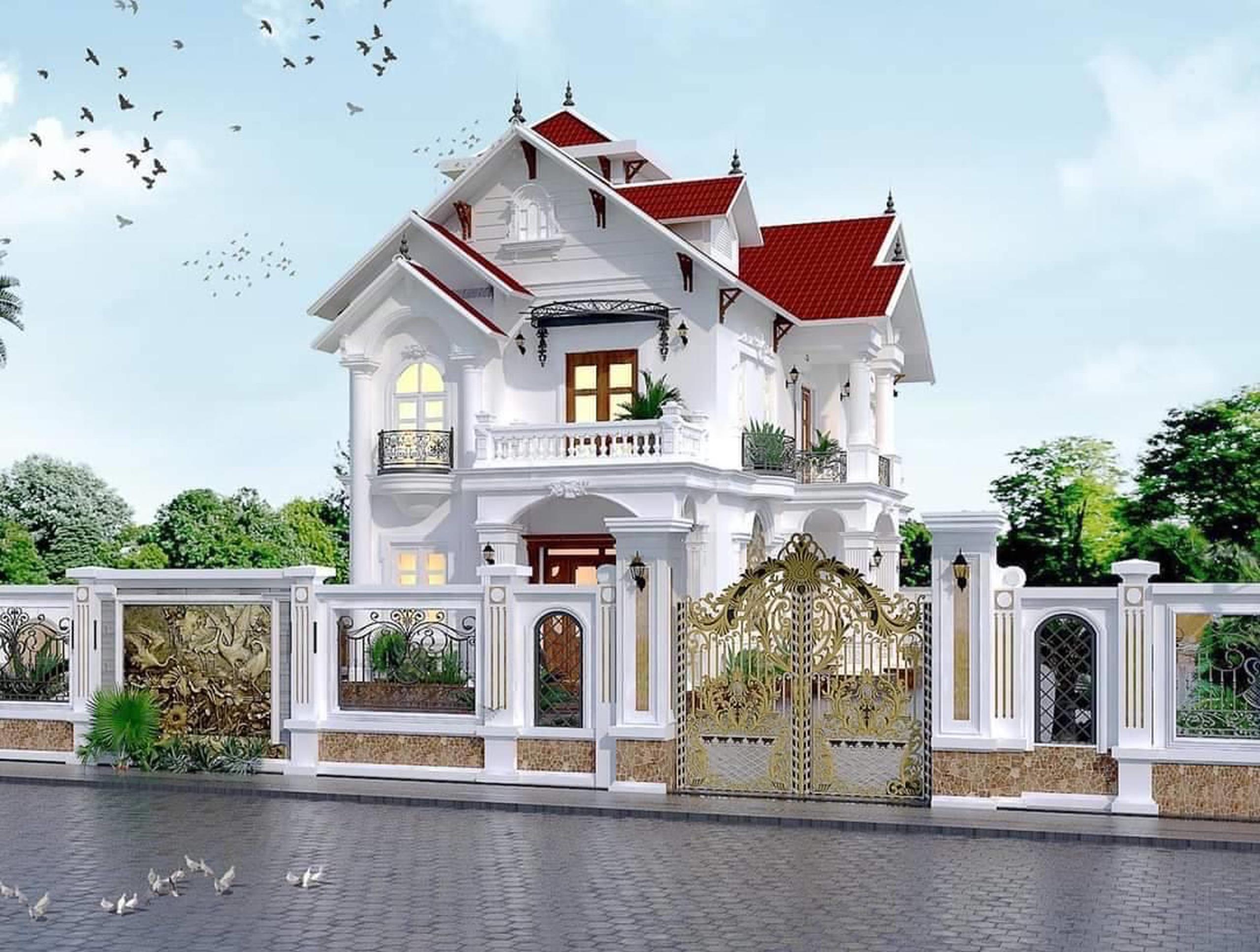 Nhà biệt thự đẹp với chi phí thiết kế hợp lý
