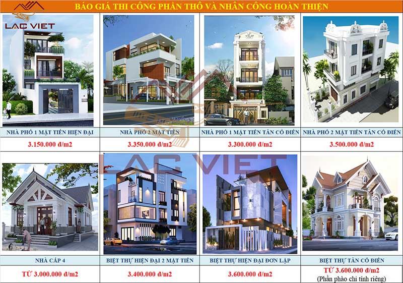 Xây dựng nhà phần thô giá rẻ