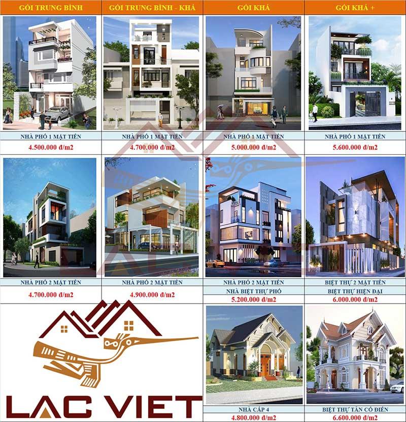 Báo giá xây dựng nhà phố trọn gói