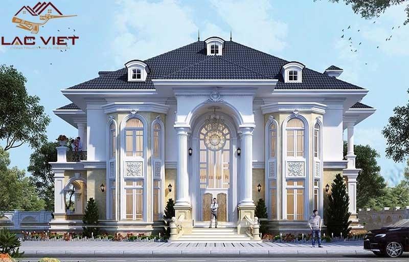 Phong cách thiết kế tân cổ điển 2 tầng đối xứng