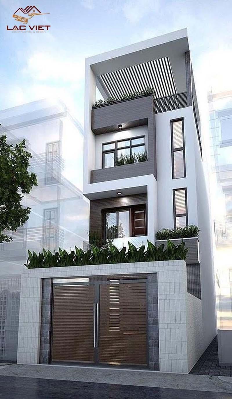 Với kết cấu 4 tầng Kiến trúc sư thoải mái bố trí các phòng chức năng