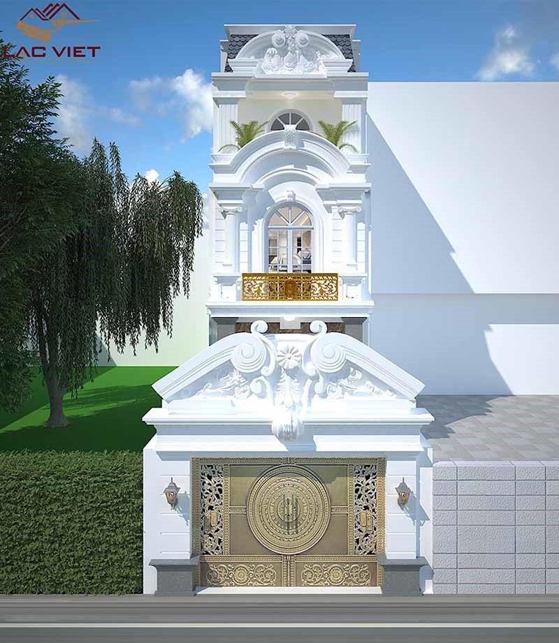 Mẫu thiết kế nhà tân cổ điển 3 tầng đẹp lộng lẫy