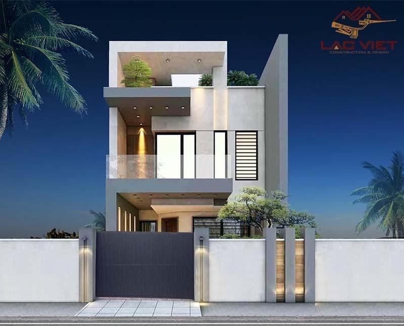 Mẫu nhà phố 1 trệt 1 lầu thiết kế với kết cấu và bố cục đơn giản