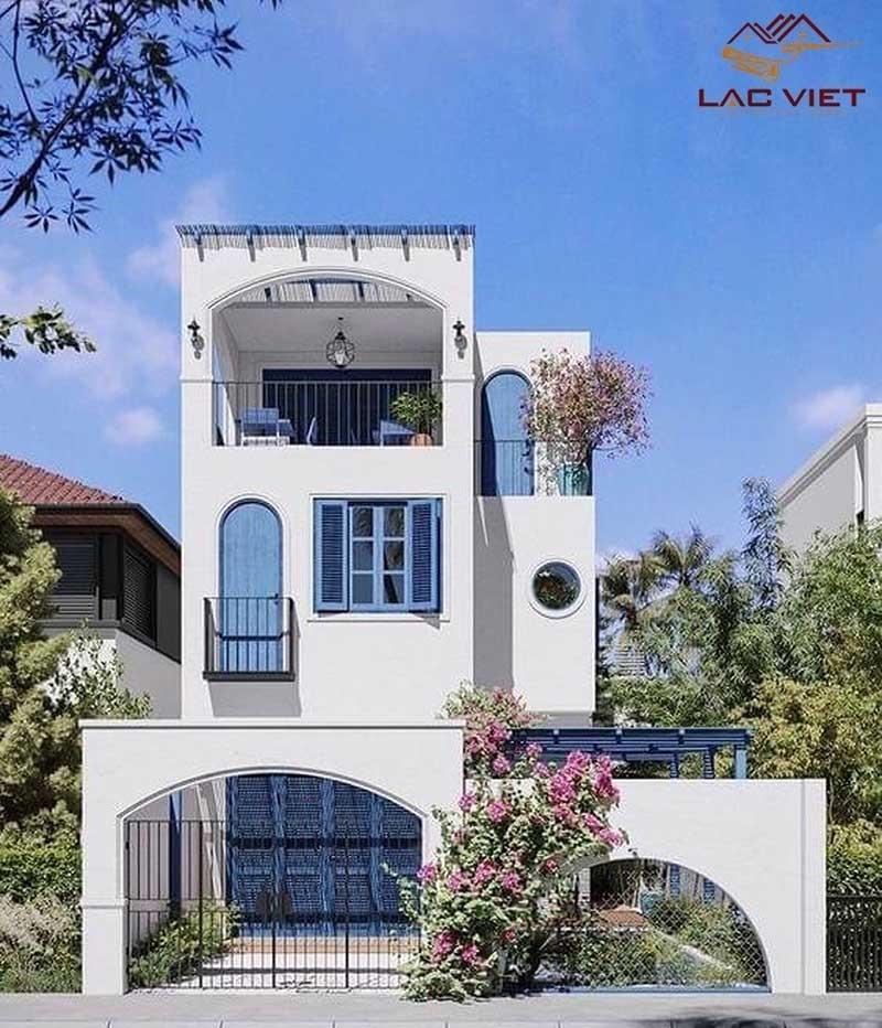 Mẫu nhà phố 1 trệt 1 lầu sân thượng với thiết kế ấn tượng