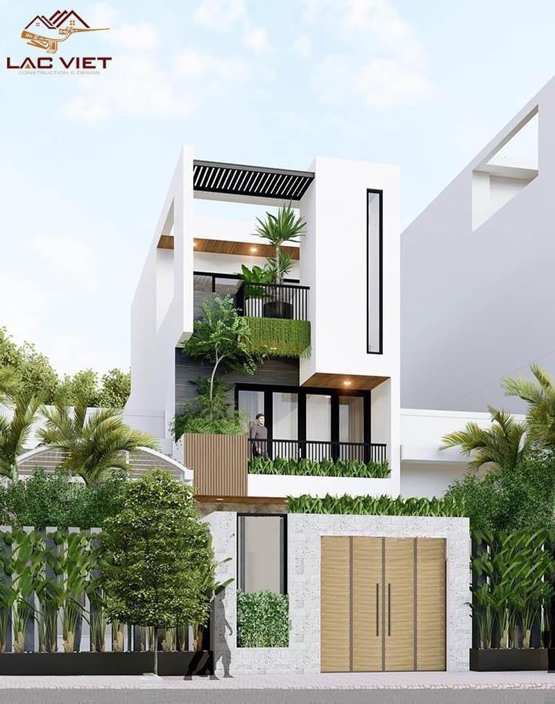 Mẫu nhà phố 2 tầng 1 tum là mẫu nhà được ưa chuộng nhất hiện nay