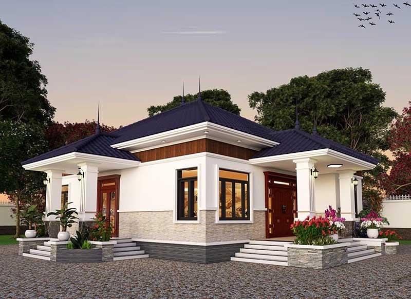 Mẫu thiết kế nhà vườn mái Nhật