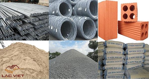 Nguyên vật liệu xây dựng đa dạng