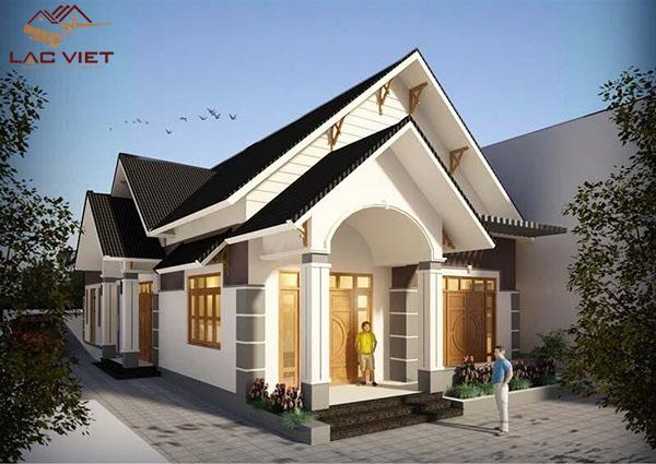 Mẫu thiết kế nhà cấp 4 mái thái đẹp