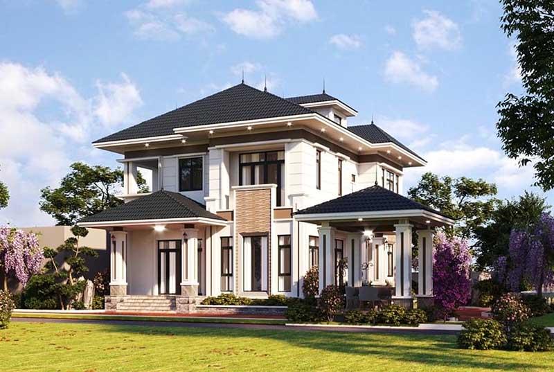 Nhà mái Nhật 2 tầng đẹp