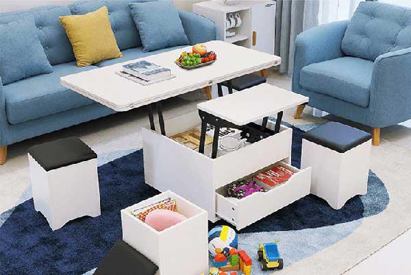 Bàn phòng khách với thiết kế đa năng thông minh