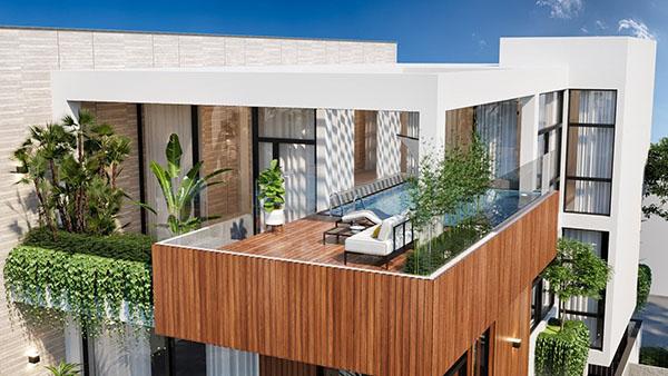 Chất liệu được sử dụng để xây dựng cho biệt thự 3 tầng rất đa dạng