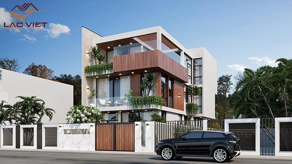 Thiết kế biệt thự hiện đại 3 tầng có diện tích từ 100m2 tới 150m2