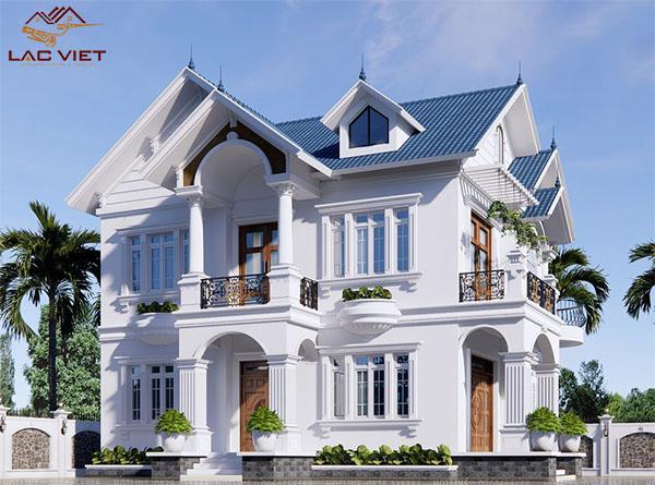 Biệt thự 2 tầng đẹp mái thái