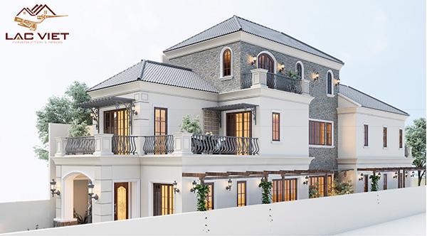 Tổng quan thiết kế biệt thự tân cổ điển 3 tầng