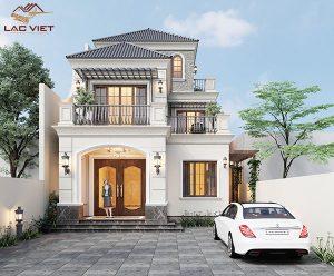 Mẫu thiết kế nhà biệt thự 3 tầng tân cổ điển đẹp 8x25m