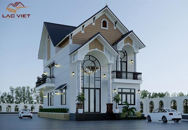 Mẫu biệt thự 2 tầng mái Thái đẹp