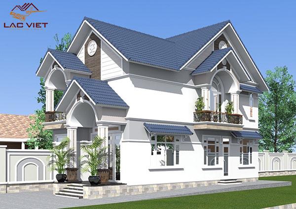 Mẫu nhà 2 tầng ở nông thôn đẹp