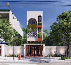 Mẫu thiết kế nhà phố 3 tầng đẹp tinh tế với mặt tiền rộng 4m x 15m
