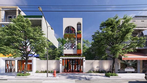 Mẫu thiết kế nhà phố 3 tầng 4x15m