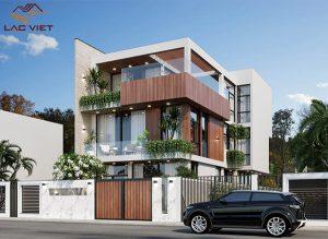 Thiết kế biệt thự hiện đại 3 tầng tiện nghi và sang trọng