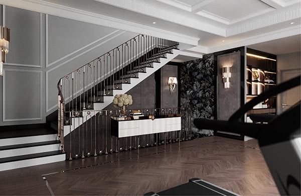 Trang trí sảnh cầu thang