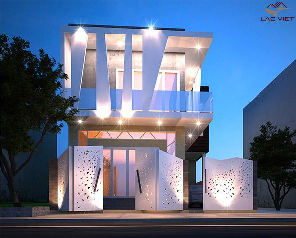 Biệt thự nhà phố 2 tầng hiện đại - độc đáo