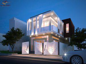 Thiết kế biệt thự phố hiện đại 2 tầng tại quận Tân Bình
