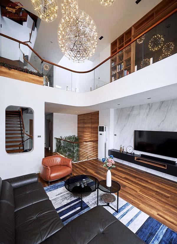 Phòng khách - phòng trung tâm của ngôi nhà