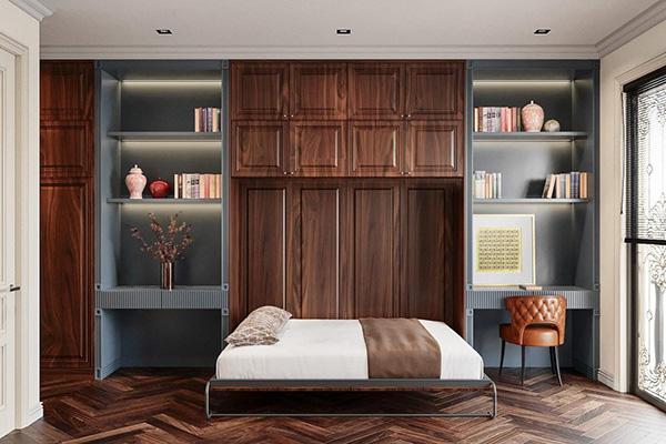 Phòng ngủ nhỏ tiện nghi và thông thoáng