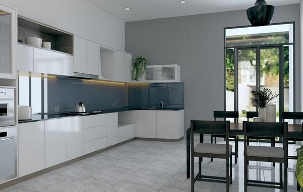 Phòng bếp được thiết kế đơn giản, tỉ mỉ nhưng không kém phần hiện đại, mang đến vẻ đẹp khó cưỡng và đầy đủ tiện nghi