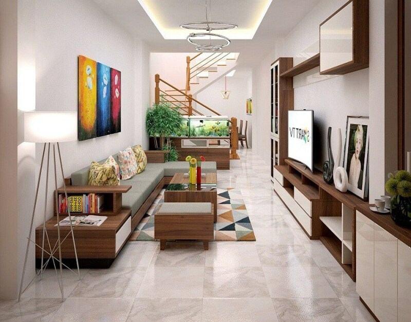 Màu sắc ấn tượng giúp ngôi nhà thêm thu hút