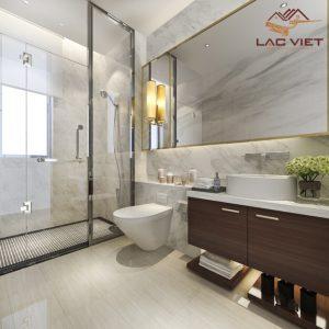 Gạch men nhân tạo là lựa chọn cơ bản cho phòng tắm