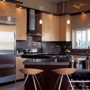 Đá hoa cương được ưu tiên sử dụng trong nhà bếp bởi màu sắc và độ cứng