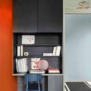 Tủ âm tường là thiết kế hoàn hảo dành cho không gian làm việc có diện tích nhỏ