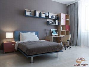Xám - sự lựa chọn an toàn cho một căn phòng ngủ tối giản