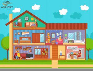Phòng ngủ của bé được bố trí ở đâu trong sơ đồ nhà