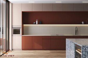 Sử dụng từ 2 tới 3 mảng màu giúp sẽ giúp căn bếp trở nên sinh động hơn