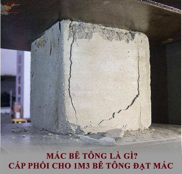Mác bê tông và cấp phối cho 1m3 khối bê tông