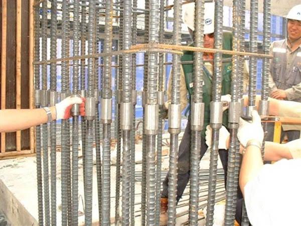 Phương pháp nối thép cột bằng coupler