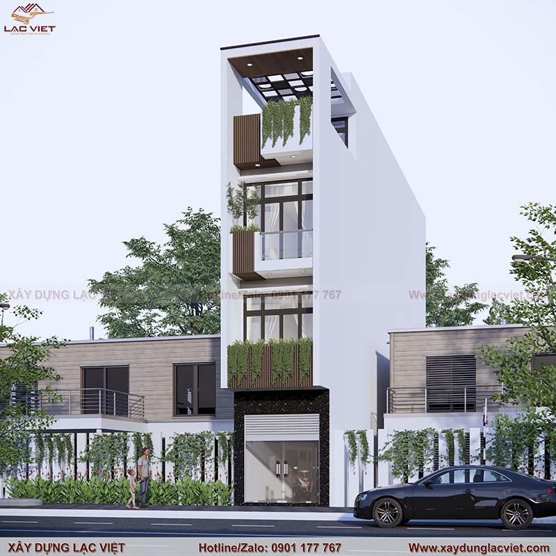 Mẫu thiết kế nhà phố mặt tiền rộng 3m