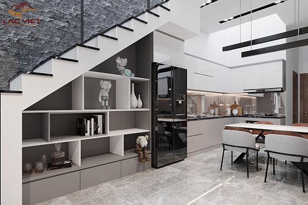 Phòng bếp nhà ống 3m
