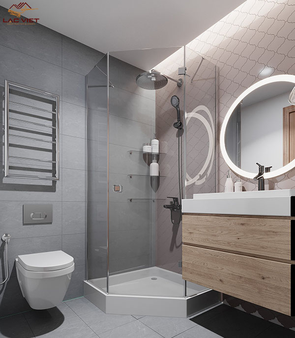 Phòng vệ sinh mẫu nhà hẹp ngang 3m