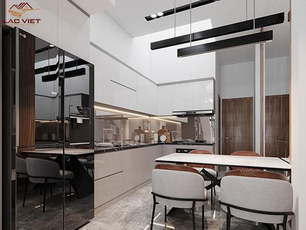 Thiết kế bếp nhà hẹp ngang 3m