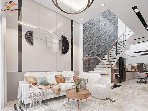 Thiết kế phòng khách mẫu nhà hẹp ngang 3m