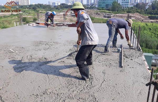 Bê tông tươi được cấp phối theo tỉ lệ tiêu chuẩn